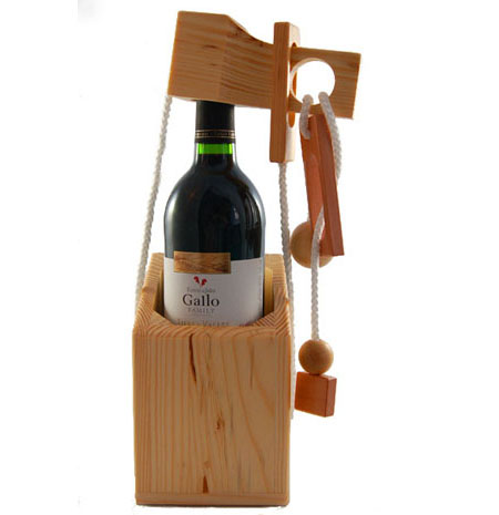 Connoisseur's Dilemma Wine Bottle Wooden Puzzle