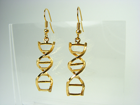 Gold DNA Earrings