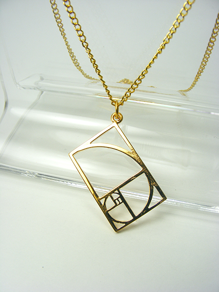 Gold Golden Mean Pendant
