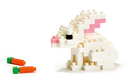 Rabbit Nanoblock Building Blocks