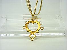 Gold Mandelbrot Pendant