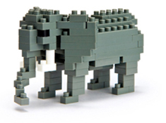 Elephant Nanoblock Building Blocks