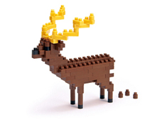 Reindeer Nanoblock Building Blocks