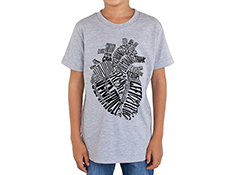 Typographical Heart Youth T-shirt