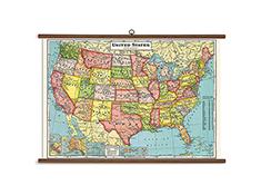 Vintage School Chart- United States